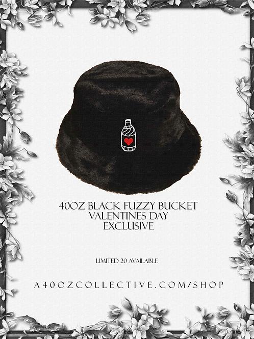 40oz Black Fuzzy Bucket Hat [Valentines Day Exclusive]