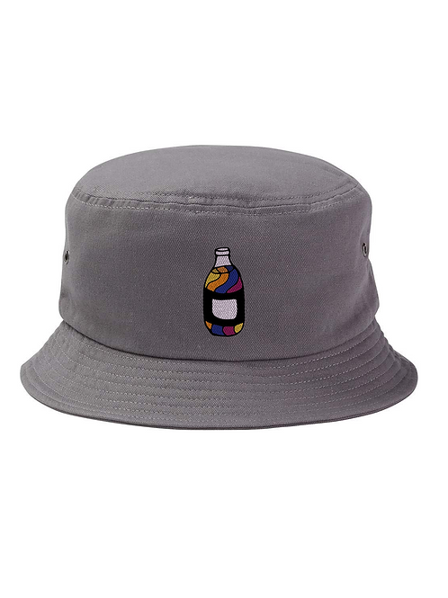 """40oz"" Charcoal Bucket Hat Colored Logo"