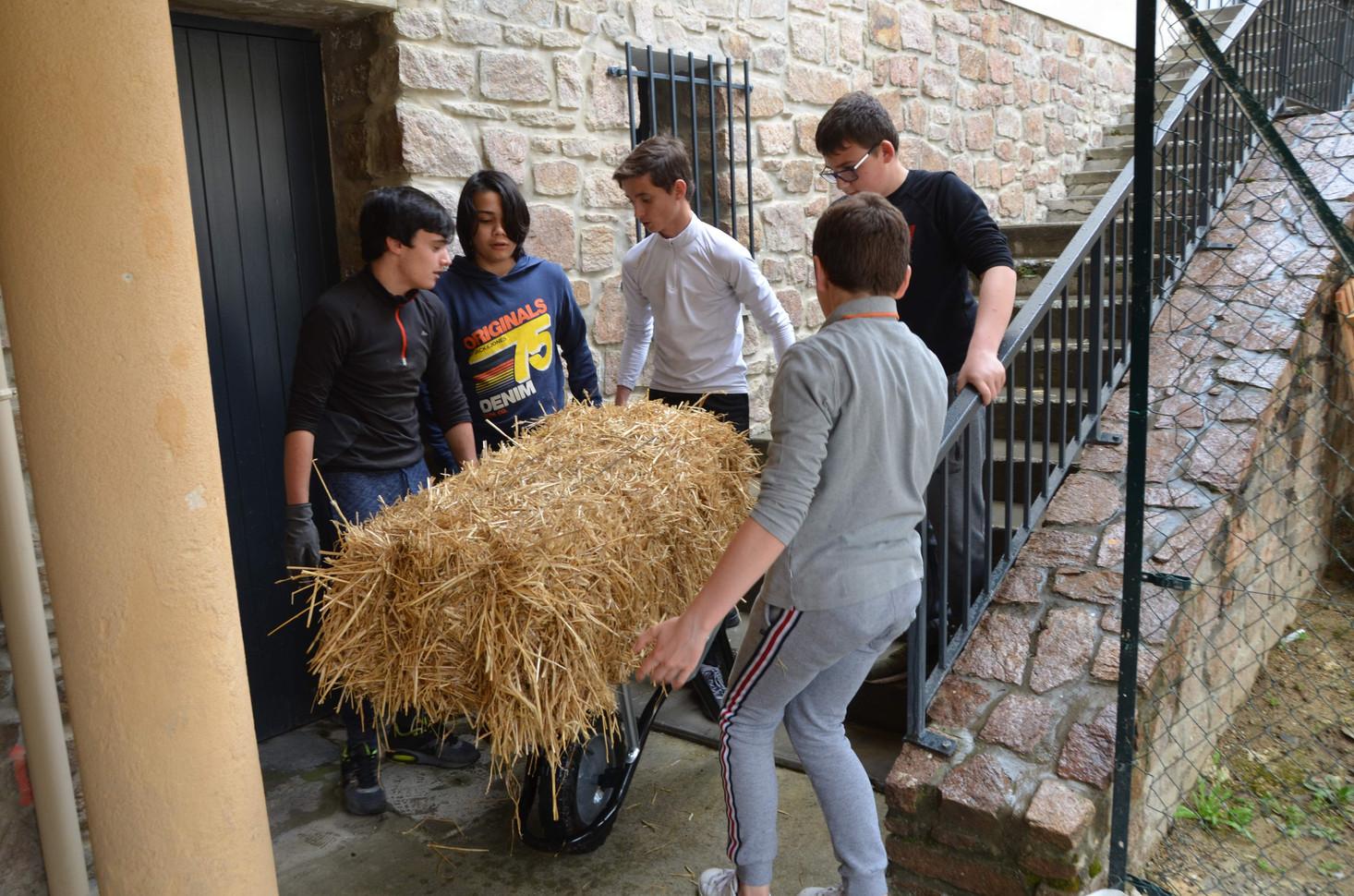 Transport des matériaux sur zone...