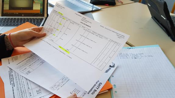 Étude sur les document comptable officiel, faire le bilan des approvisionnements de nouriture, leurs provenances, la qualité.....