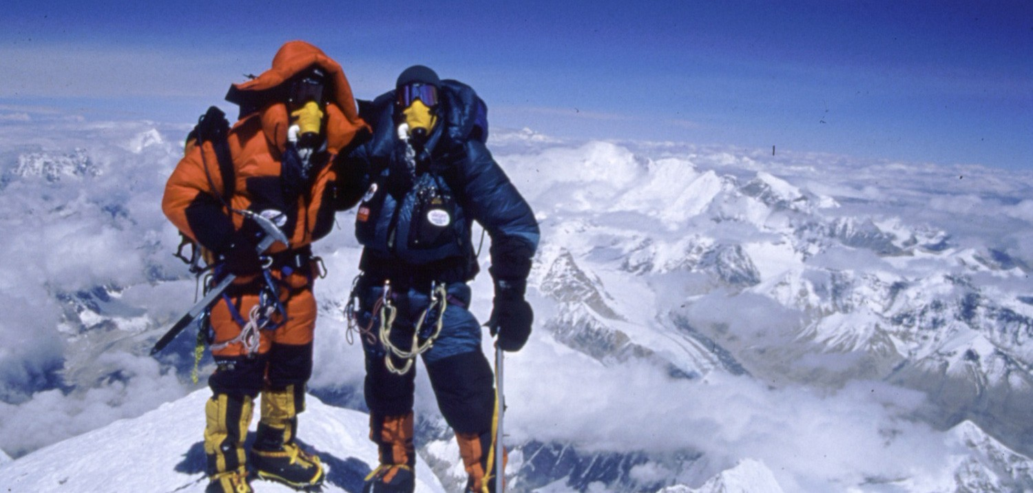 Sherpa & Client at Summit