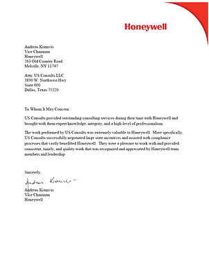 Honeywell Vice Chairman Recommendation.j
