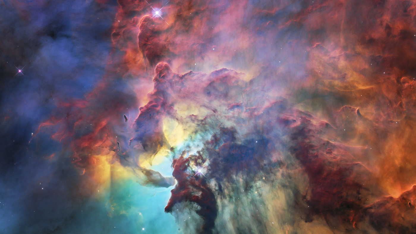 Hubble Gas Clouds