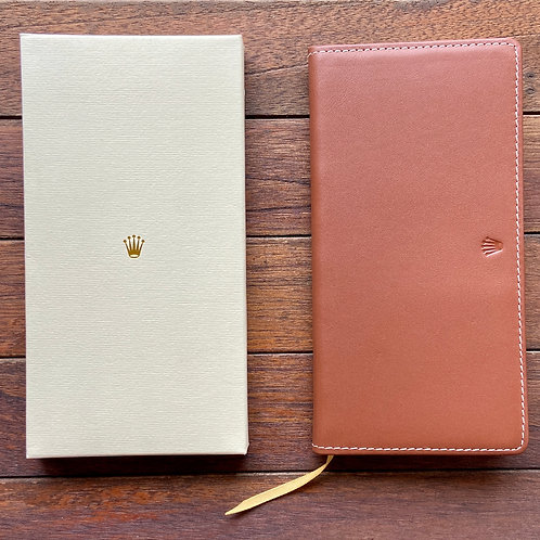 Genuine Rolex Tan Leather Diary 2012/ Wallet/ Document Holder (M)
