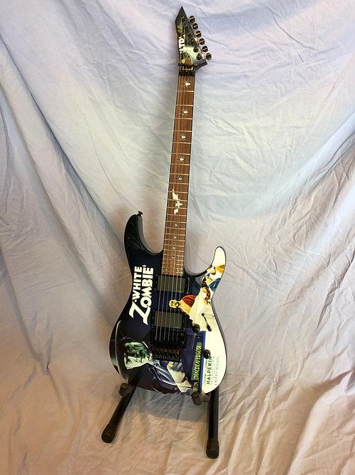 ESP LTD Kirk Hammett Signature White Zombie Electric Guitar (M) - SOLD