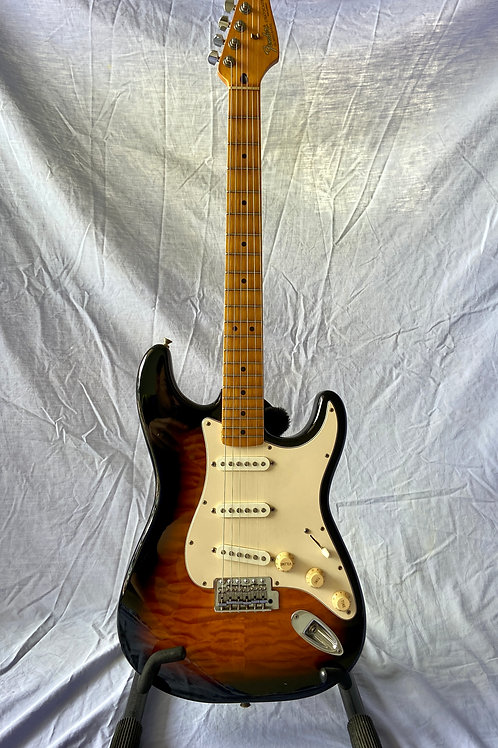 1995 Fender Stratocaster Hybrid Body MIM c / w case (EXC)-SOLD