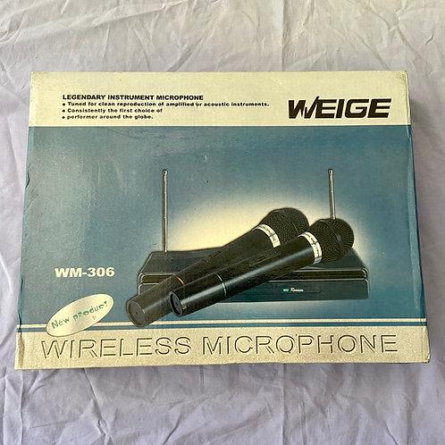Weige WM-306 Wireless Microphone & Receiver System c/w box (M) - SOLD