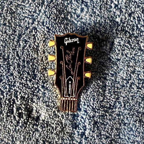 Vintage Gibson Les Paul Standard Headstock Miniature Lapel Pin Art (EXC) - SOLD