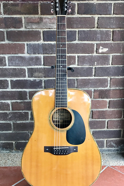 1976 Fender 12 String Acoustic F-80-12 Japan (VG) - SOLD