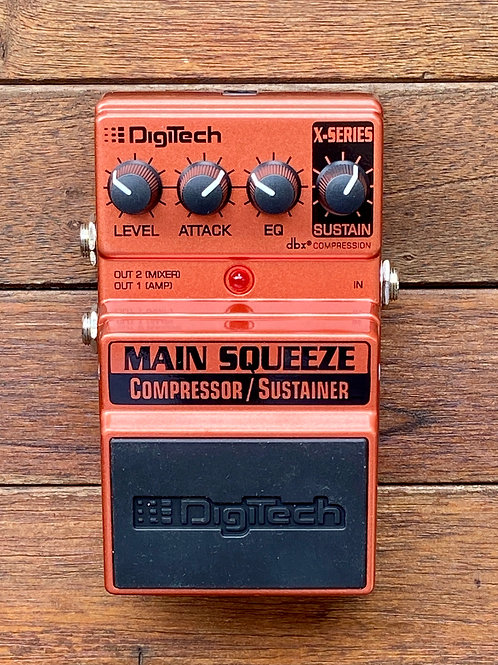 DigiTech Main Squeeze Compressor / Sustainer Pedal c/w original box, etc. (New)