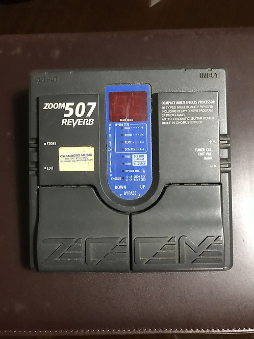 Zoom 507 Reverb Multi Effects Pedal (VG) - SOLD