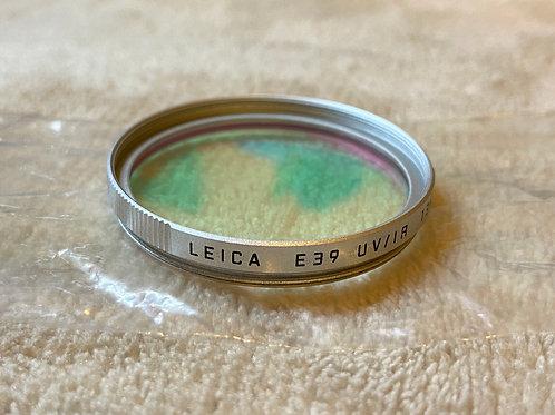 Leica E39 UV / IR 13416 실버 렌즈 필터 (EXC)-판매