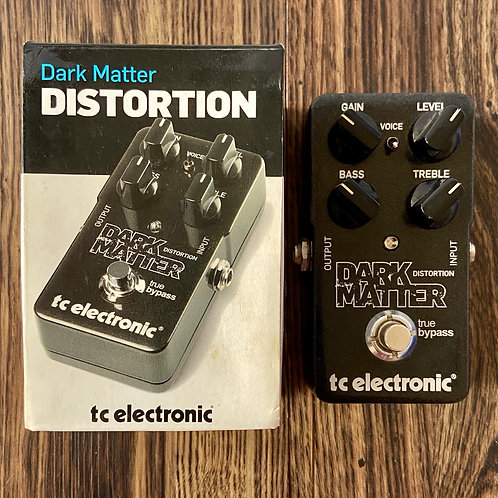 TC Electronic Dark Matter Distortion Guitar Effects Pedal (EXC) - SOLD