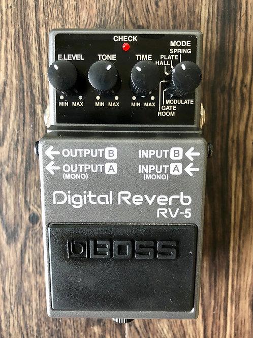 Boss RV-5 Digital Reverb MIT (VG) - SOLD