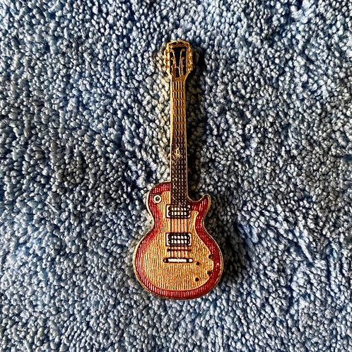 Vintage Gibson Les Paul Standard Miniature Lapel Pin Art (EXC)