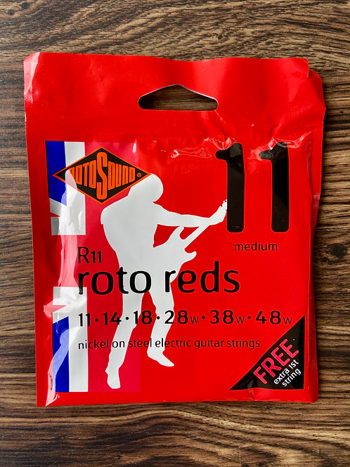 ROTOSOUND R11 Roto Red Nickel Electric Guitar Strings 11-48 Medium (New) - SOLD