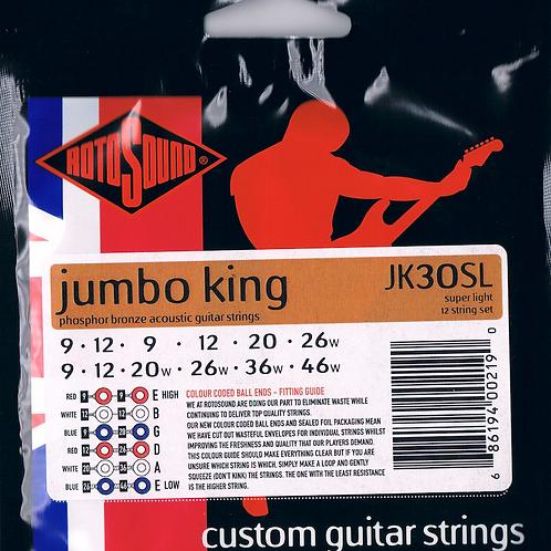 Rotosound JK30SL Phosphor Bronze Acoustic Guitar Strings 9-46 12-String - SOLD