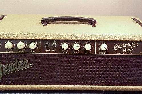 1961 Fender Bassman Blonde Tolex Head USA - SOLD