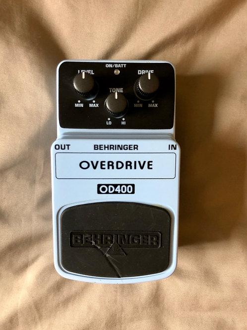 Behringer Overdrive OD-400 Pedal (G) - SOLD