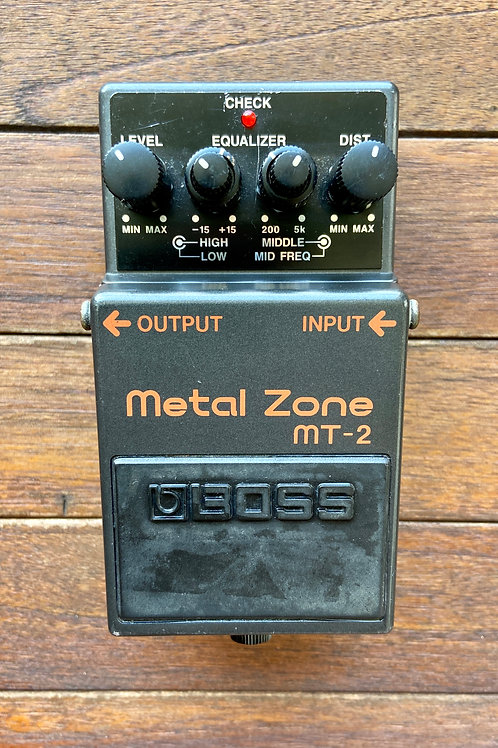 Boss MT-2 Metal Zone Distortion Effect Pedal MIT (G) - SOLD