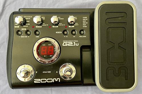 Zoom G2.1U Guitar Multi-Effects Pedal w/USB Interface c/w box (EXC) - SOLD