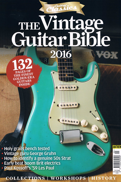 The Vintage Guitar Bible 2016