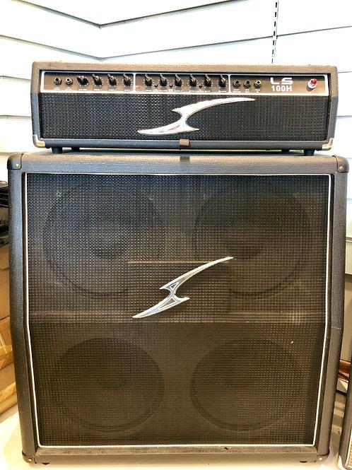 "LS 100H 100W Solid State Head Amplifier & 4x12"" Speaker Cabinet (G) - SOLD"