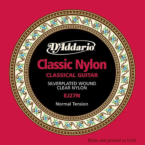 D'ADDARIO EJ27N Classical Normal Tension Full Size Guitar Strings (New) - SOLD