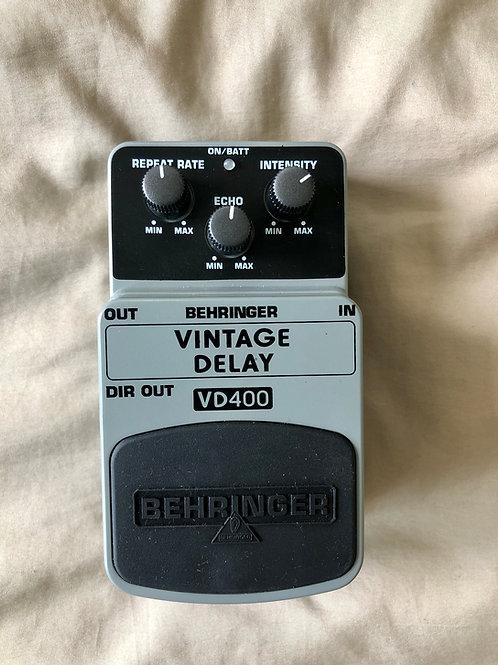 Behringer VD400 Vintage Delay Pedal (EXC) - SOLD