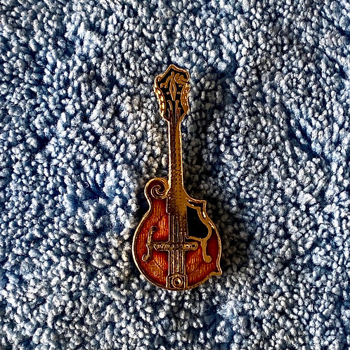 Vintage Gibson F5 Mandolin Miniature Lapel Pin Art (E)