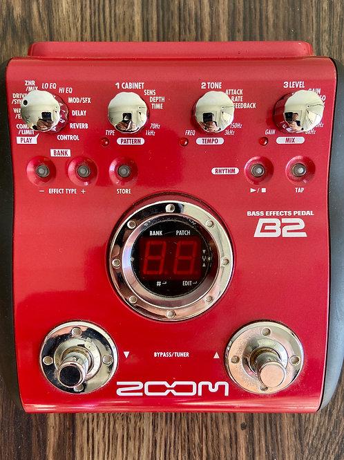 Zoom B2 Bass Effects Pedal c / w 오리지널 박스 (VG)