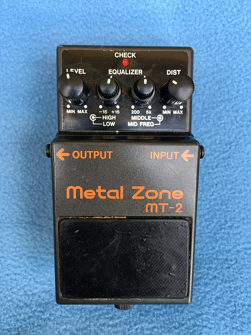 BOSS Metal Zone MT-2 (MIT) Jul 2000 (VG) - SOLD