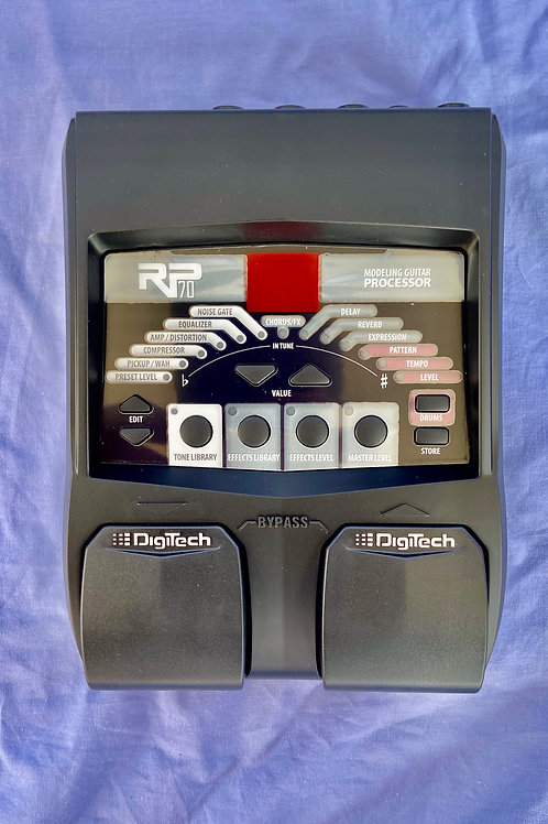 DigiTech RP70 Modeling Guitar Processor c/w original box ,adaptor (new) - SOLD