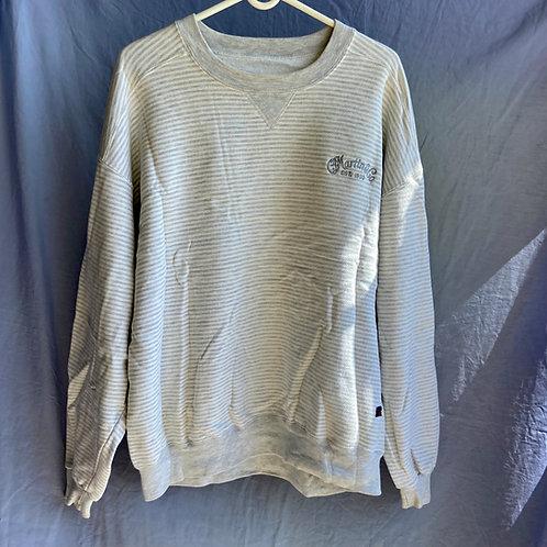 Vintage CF Martin & Co. Logo Long Sleeve Cotton / Polyester Sweater White XL(VG)