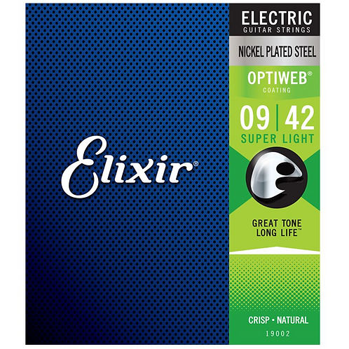 Elixir 19002 Optiweb Super Light Electric Guitar Strings 09-42 (New)