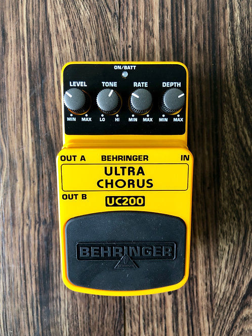Behringer UC200 Ultra Chorus Pedal (EXC) - SOLD