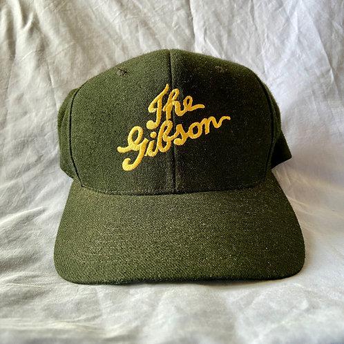 ' The Gibson ' Classic Vintage Golden Era Logo Black Baseball Cap (E)