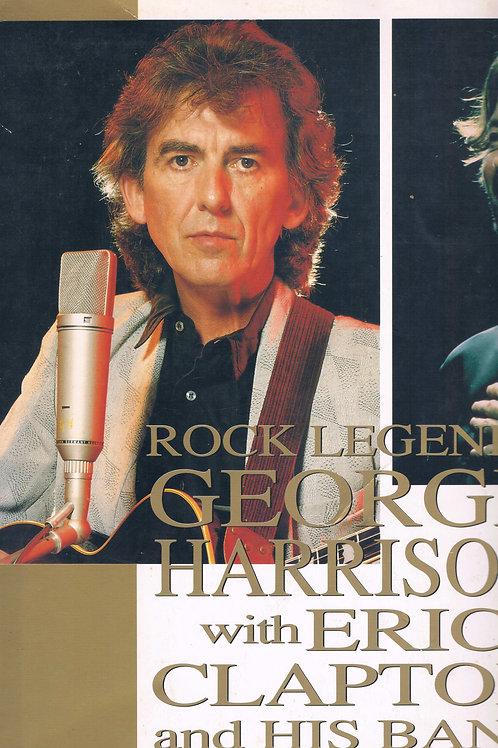 Rock Legends George Harrison과 Eric Clapton과 그의 밴드 투어 1991