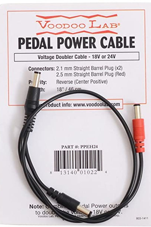 Voodoo Lab Voltage Doubler Cable – 2.5mm Center-Positive Polarity (PPEH24)- SOLD