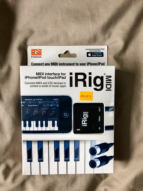 IK Multimedia iRig Midi (New) - SOLD