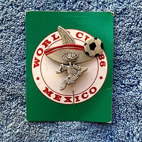Vintage 1986 World Cup Mexico 'Pique' Selangor Pewter Malaysia Souvenir (EXC)