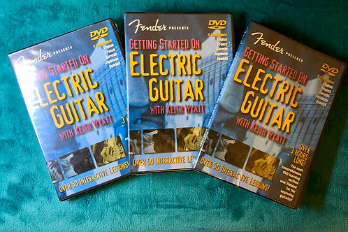 "Fender Presents ""Getting Started On Electric Guitar by Keith Wyatt"" DVD - SOLD"
