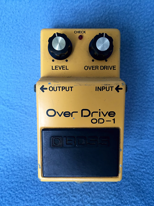 Boss Overdrive OD-1 (MIJ) Silver Screw Apr 1980 (VG) - SOLD