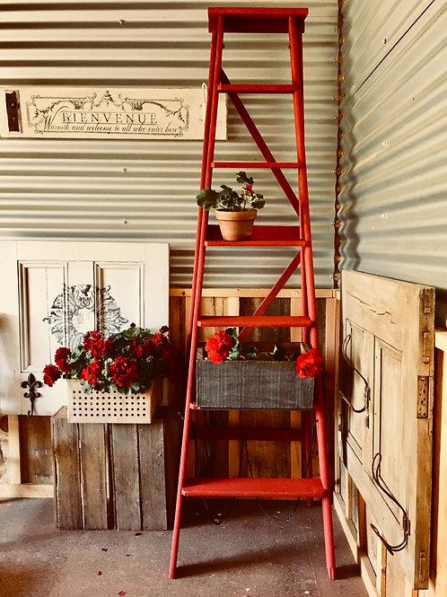 ###SOLD### Vintage Red Ladder
