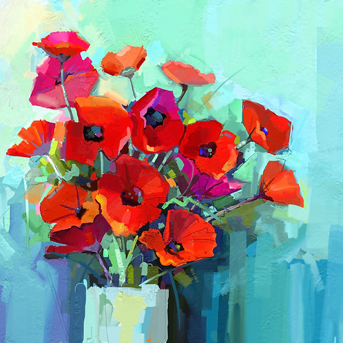 Poppies Decoupage Paper