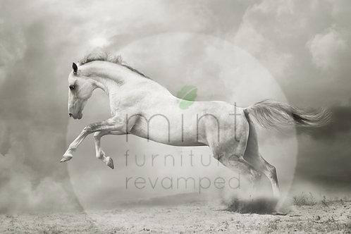 White Horse Decoupage Paper