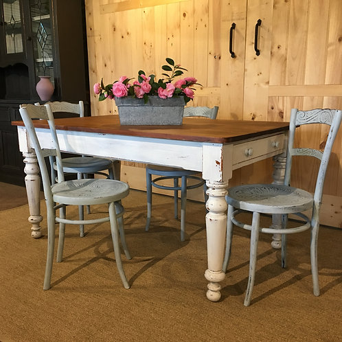 ###SOLD###  Country Kitchen table set.