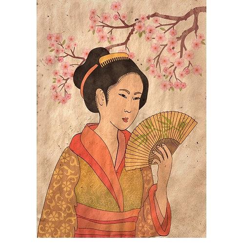 Geisha Decoupage Paper REVERSED
