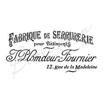 FRENCH ADVERTISING STENCIL FS64