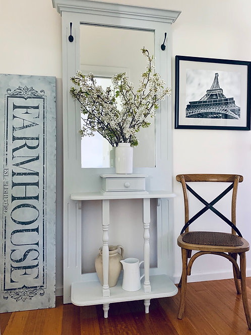 SOLD  Hall mirror and hat stand